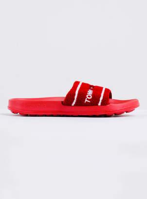 Tommy Hilfiger Mens Tommy Jeans Summer Slide in Red