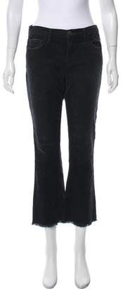 Current/Elliott Corduroy Mid-Rise Straight-Leg Pants