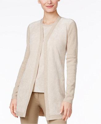 Calvin Klein Faux-Suede Cardigan $129.50 thestylecure.com