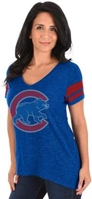 Majestic Women's Chicago Cubs Check the Tape Tee