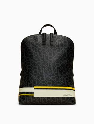 Calvin Klein monogram stripe convertible backpack