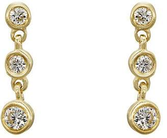 Tate Women's Round White Diamond Strand Earrings