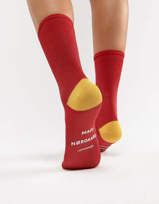 Mads Norgaard Colourblock Glitter Ankle Socks