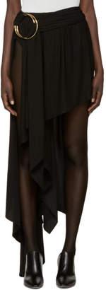 Anthony Vaccarello ブラック アシンメトリ ダブル フープ スカート