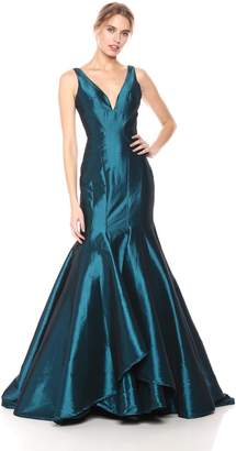 Mac Duggal Macduggal Women's Multi-Layer Fitted V-Neck Gown