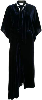 Roland Mouret velvet asymmetric dress