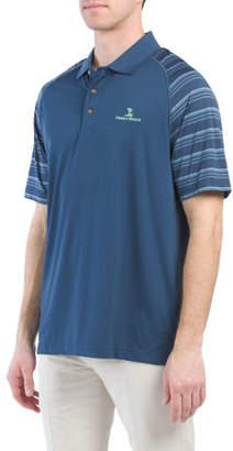 Stripe Sleeve Golf Polo