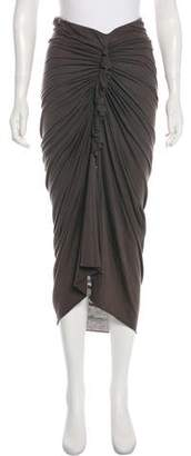 Rick Owens Lilies Ruched Maxi Skirt