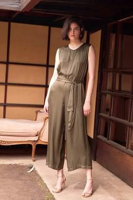 Velvet by Graham & Spencer Velvet By Graham Spencer Ivy Satin Viscose Belted Sleeveless Jumpsuit