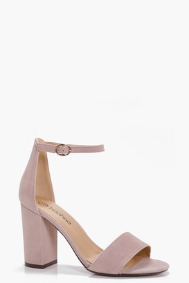 boohoo Two Part Block Heels