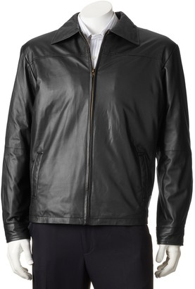 Big & Tall Excelled New Zealand Lamb Leather Open-Bottom Jacket