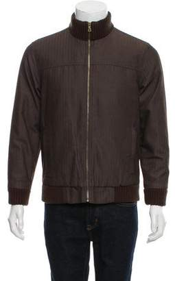 Marc Jacobs Herringbone Bomber Jacket
