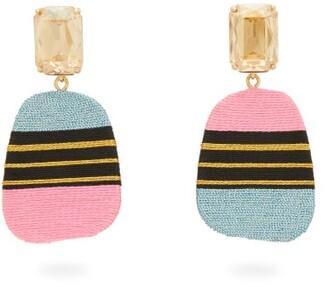 Maryjane Claverol - Carmela Stripe Clip Earrings - Womens - Multi