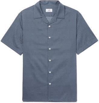 Dunhill Camp-Collar Printed Cotton Shirt
