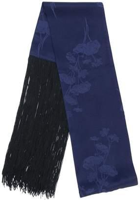 MM6 MAISON MARGIELA jacquard fringe scarf