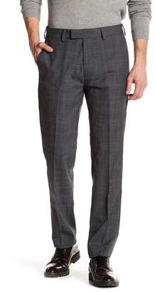 "Louis Raphael Glenplaid Flat Front Trim Fit Trousers - 30-34"" Inseam"