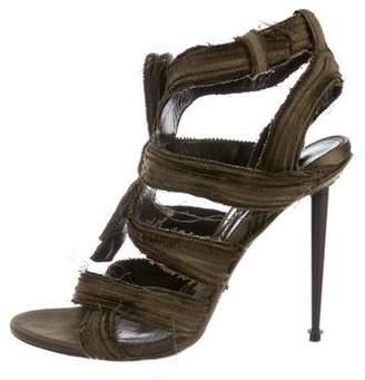 Tom Ford Raw-Edge Satin Sandals
