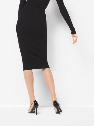 Michael Kors Stretch-Viscose Pencil Skirt