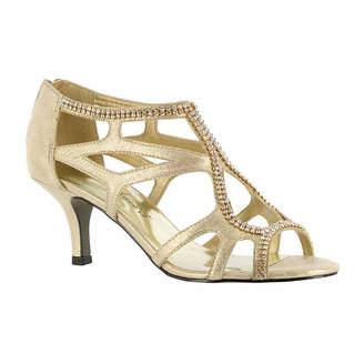 Easy Street Shoes Flattery Womens Pumps Zip Open Toe Spike Heel