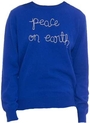 Lingua Franca Peace on Earth Crewneck Sweater