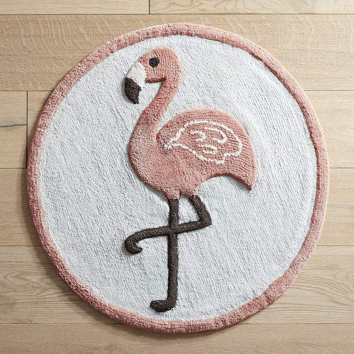 Flamingo Round Bath Rug