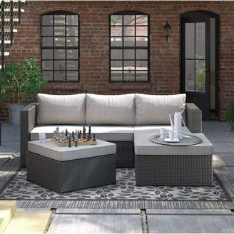 Williston Forge Hammontree Patio Sectional with Cushions
