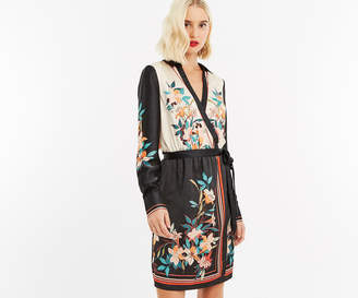 Oasis PLACEMENT SCARF SATIN DRESS