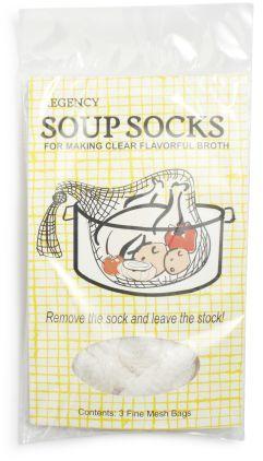 Regency Soup Sock, Set of 3