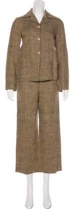 Alberta Ferretti Linen Wide-Leg Pantsuit
