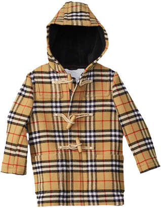 Burberry Brogan Check Wool Coat
