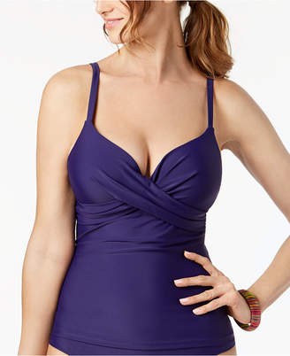Island Escape Underwire Push-Up Tankini Top, Created for Macy's Women's Swimsuit