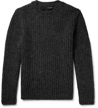 Isabel Benenato Ribbed Alpaca-Blend Sweater