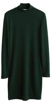MANGO Knitted perkins neck dress