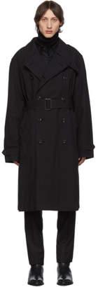 Lemaire Black Belt Trench Coat