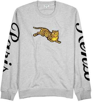 Kenzo Jumping Tiger Grey Cotton Sweatshirt