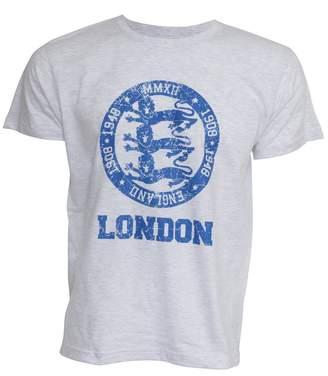 England Mens London 3 Lions Print Short Sleeve Casual T-Shirt/Top
