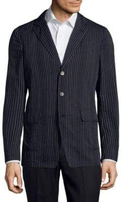 Dries Van Noten Pinstripe Wool Jacket