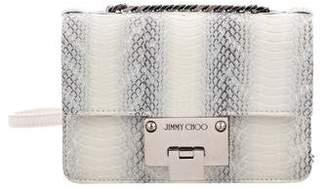 Jimmy Choo Snakeskin Mini Rebel Crossbody Bag