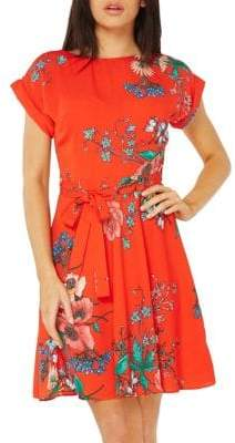 Dorothy Perkins Floral Printed Fit-&-Flare Dress