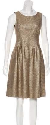 Lela Rose Metallic Knee-Length Dress