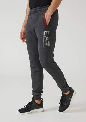 Emporio Armani Cotton Joggers With Ea7 Logo