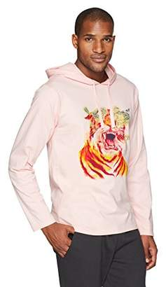 Flying Ace Men's Heavy Jersey Hooded Long Sleeve T-Shirt with Graphic Print