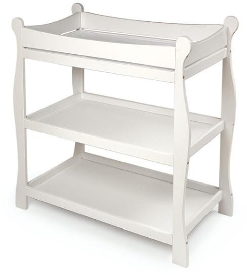White Sleigh Style Changing Table