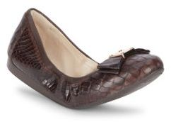 Cole Haan  Tali Alligator-Embossed Leather Ballet Flats