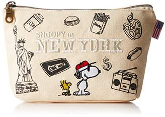 Snoopy [スヌーピー] スヌーピー 舟形キャンパス ポーチ spr-271b NEW New York(364)