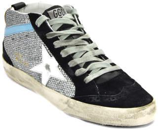 Golden Goose Midstar M4 - Glitter White Leather Star Sneaker