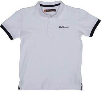 Ben Sherman Boys Solid Polo Bright White