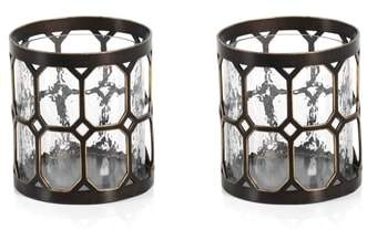 Zodax Loire Set of 2 Hurricane Candle Holders