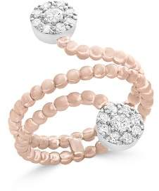 Bloomingdale's Diamond Cluster Beaded Ring in 14K White and Rose Gold, .35 ct. t.w. - 100% Exclusive