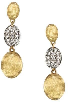 Marco Bicego Diamond Siviglia Earrings in 18K Yellow Gold